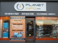 Enseigne magasin Planet Info Cherbourg