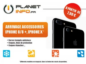 Arrivage accessoire iphone 8/8+/x
