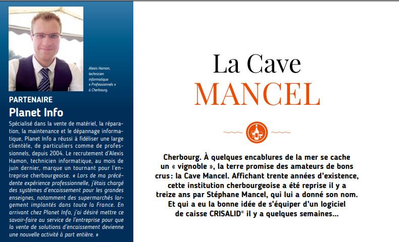 crisalid, logiciel de caisse a la cave mancel